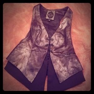 Tops GUESS silver Glam vest size Small